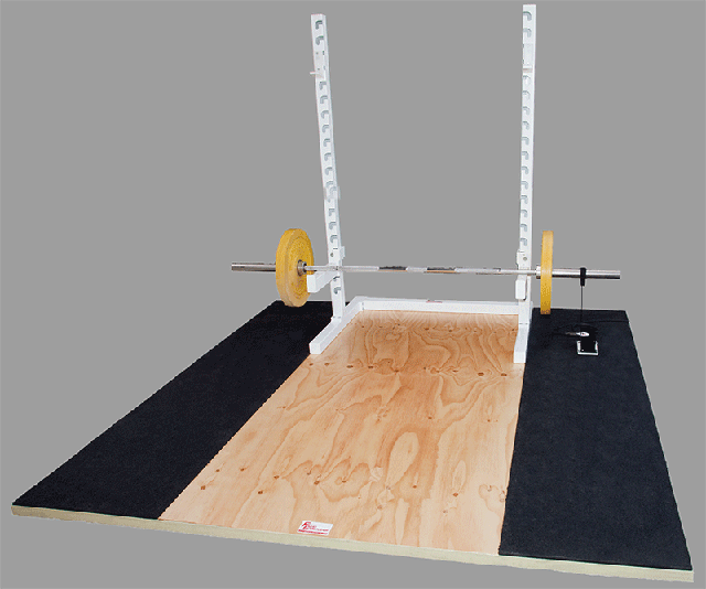 Olympic Training Platform with portable Squat Rack